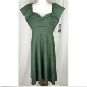 Stop Staring Dress Size 1X Green Retro New NWT